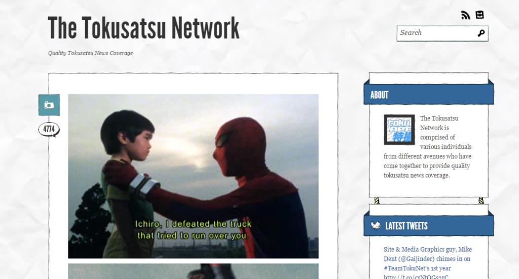 The Tokusatsu Network Tumblr page