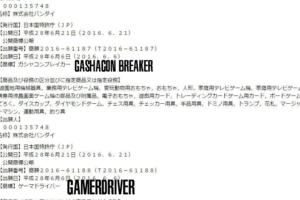 Bandai Registers Various New Trademarks